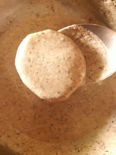 Buckwheat flour fritters
