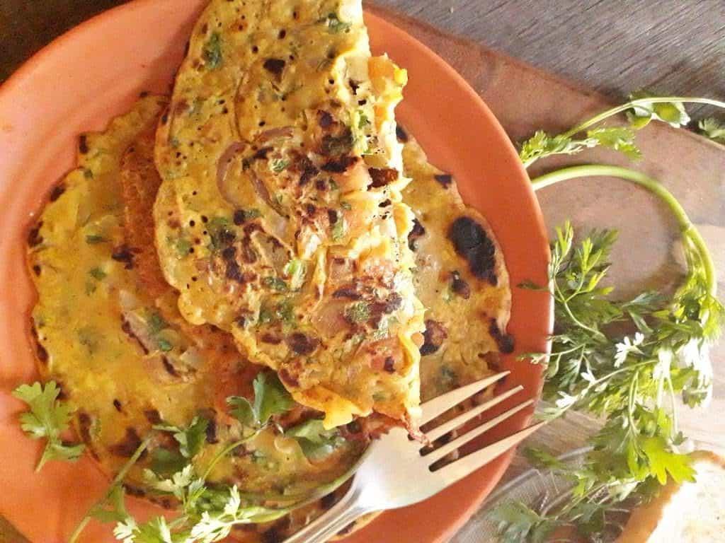 vegan Tomato omelette