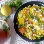 Aloo Matar Poha/ Potato Green Peas Flattened Rice