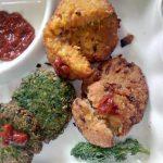 Tri-Color Falafel with Cilantro Dip