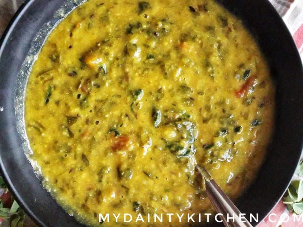 easy and quick lentils soup