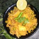 Stir fried Cabbage & Green Peas