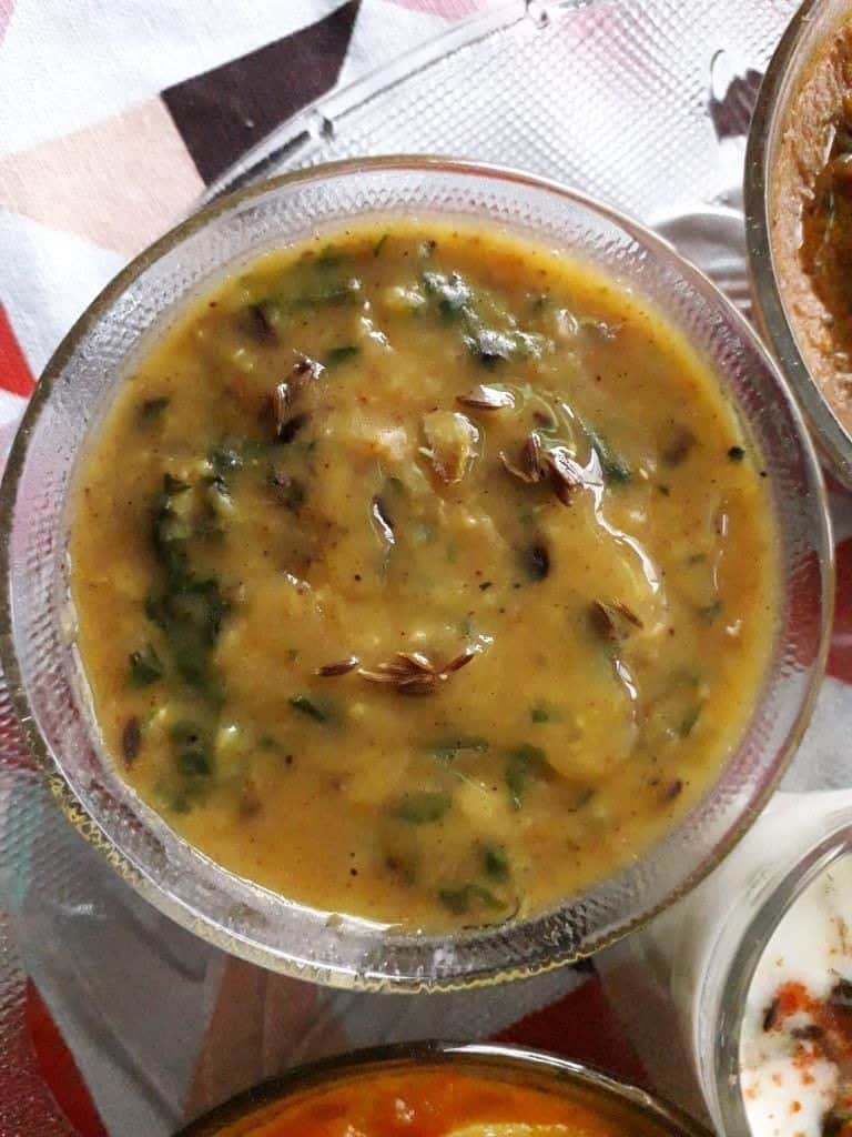 Dal Palak - vegetarian spinach recipes