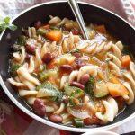 Veg Minestrone Soup with Fusilli Pasta