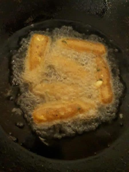 corn kabab deep frying