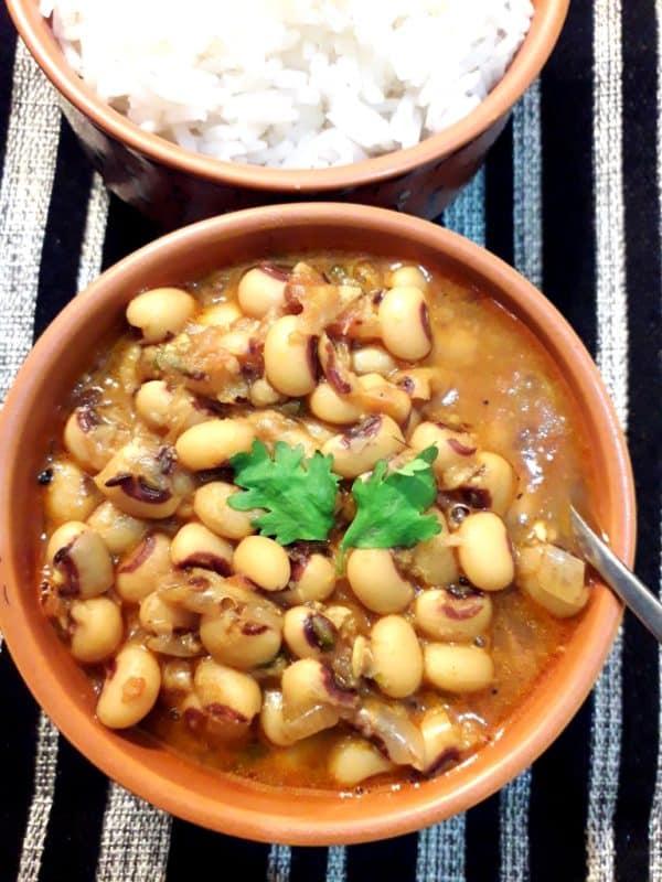 Chawli/ lobia curry