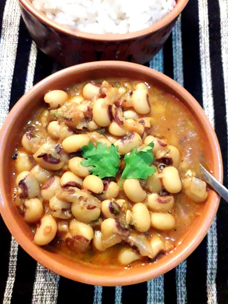 Lobia/ Black-eyed Peas/ Chawli curry