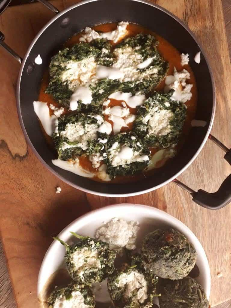 Palak paneer kofta - vegetarian spinach recipes