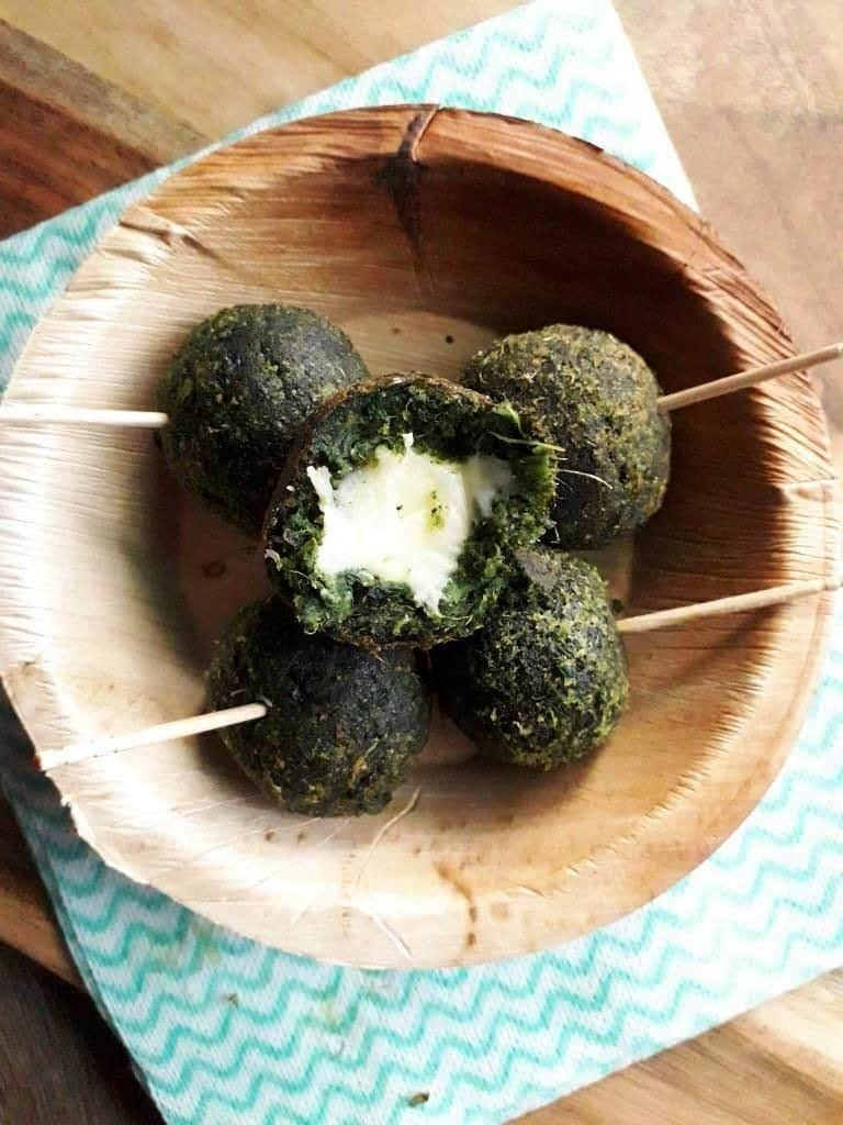 Spinach cheese balls - vegetarian spinach recipes