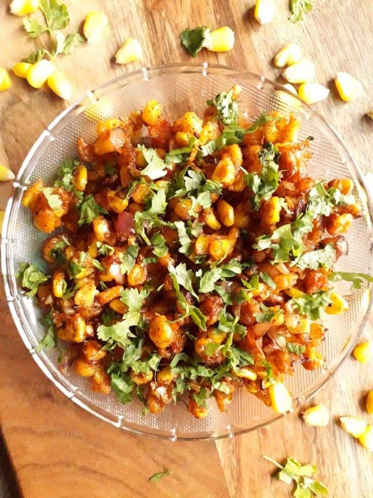 Crispy Corn Chaat