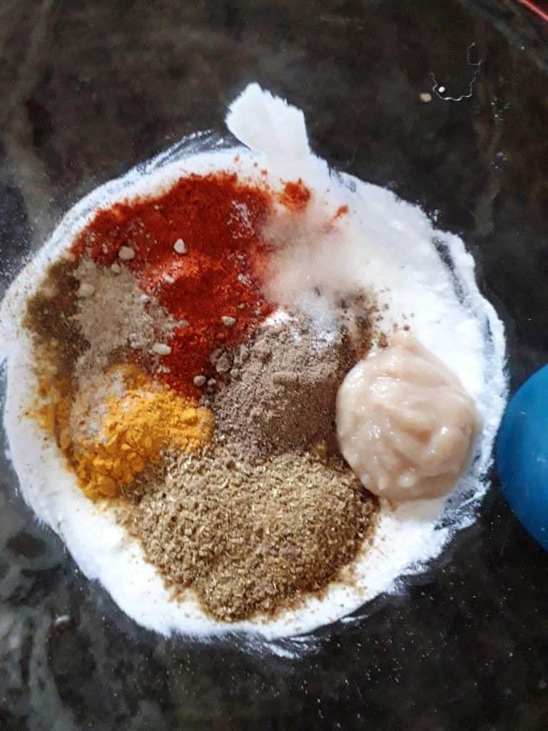marination mixture for paneer tikka