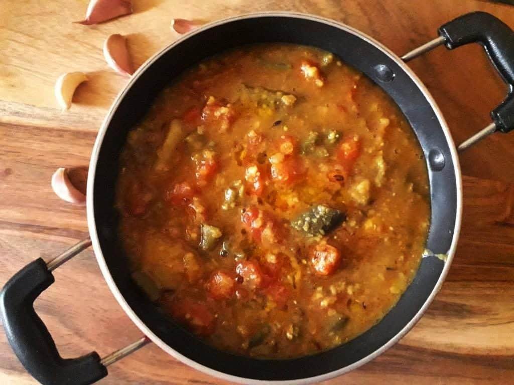 mix veggie lentils soup