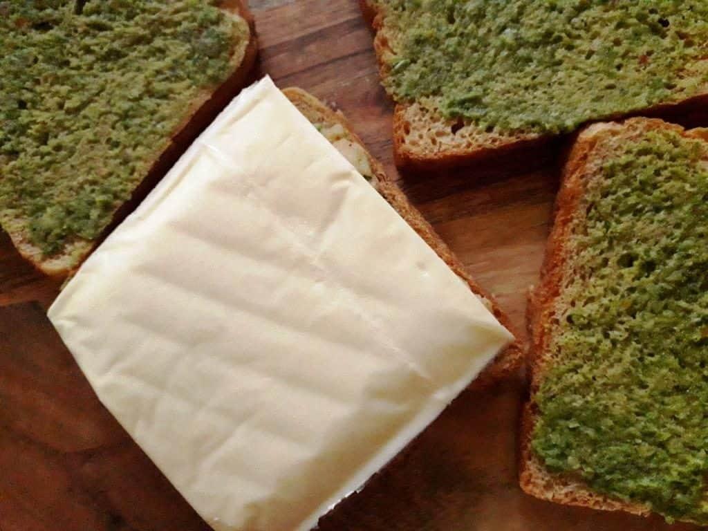 Cheesy potato sandwich