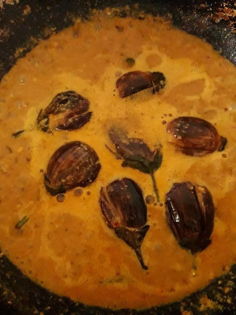 hyderabadi eggplant gravy