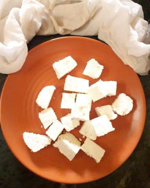 paneer made at home