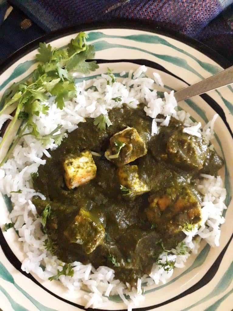 Palak Paneer - vegetarian spinach recipes