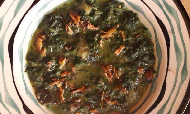 Keto Soupy Spinach