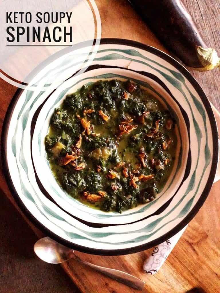Soupy Spinach Recipe