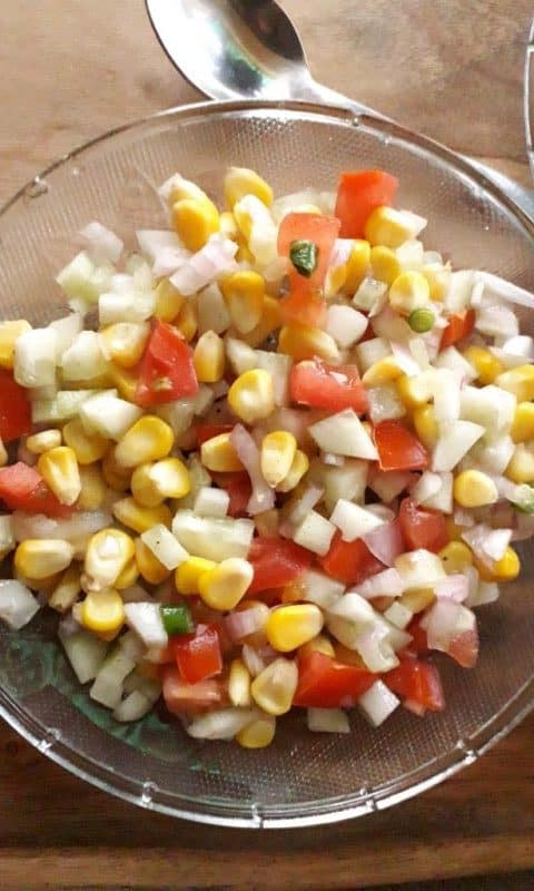 corn cucumber salad