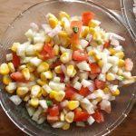Corn tomato cucumber salad