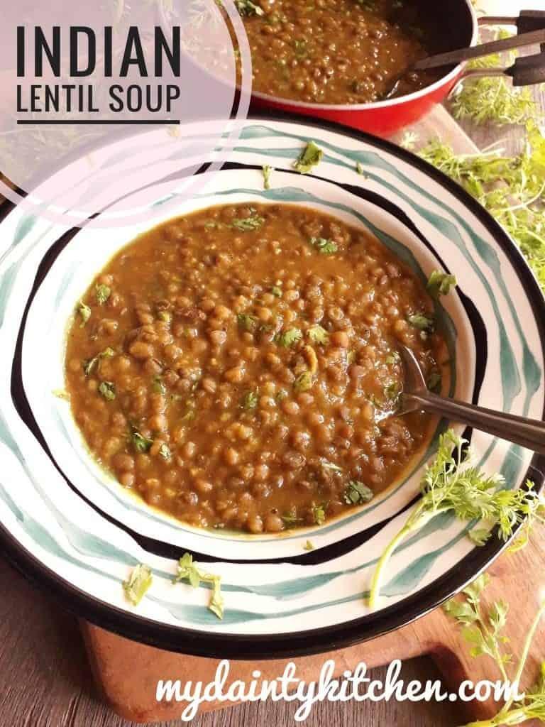 Brown Lentils Soup
