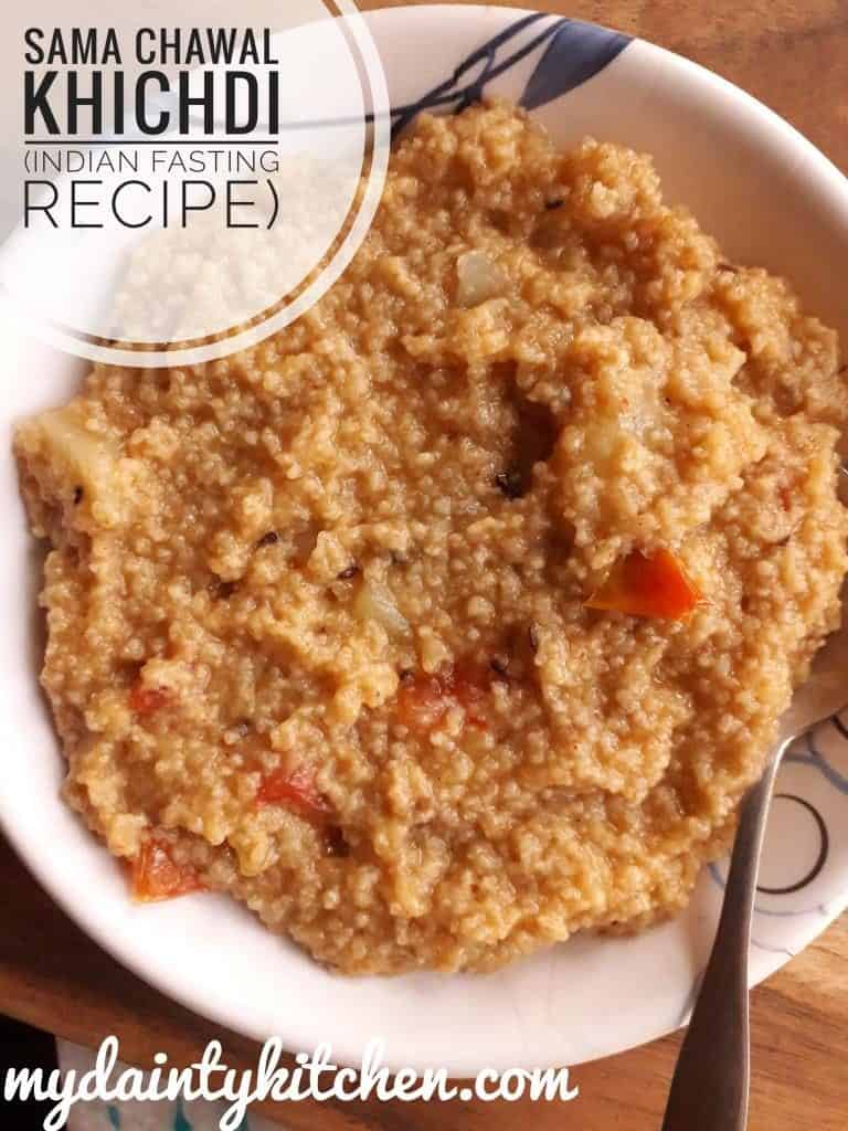Samvat rice khichdi fasting recipe