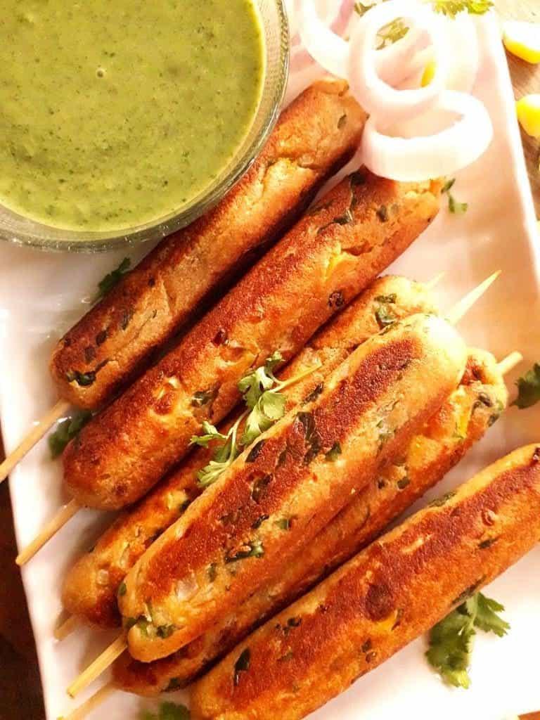 paneer corn kabab