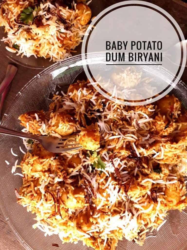 Baby potato dum biryani