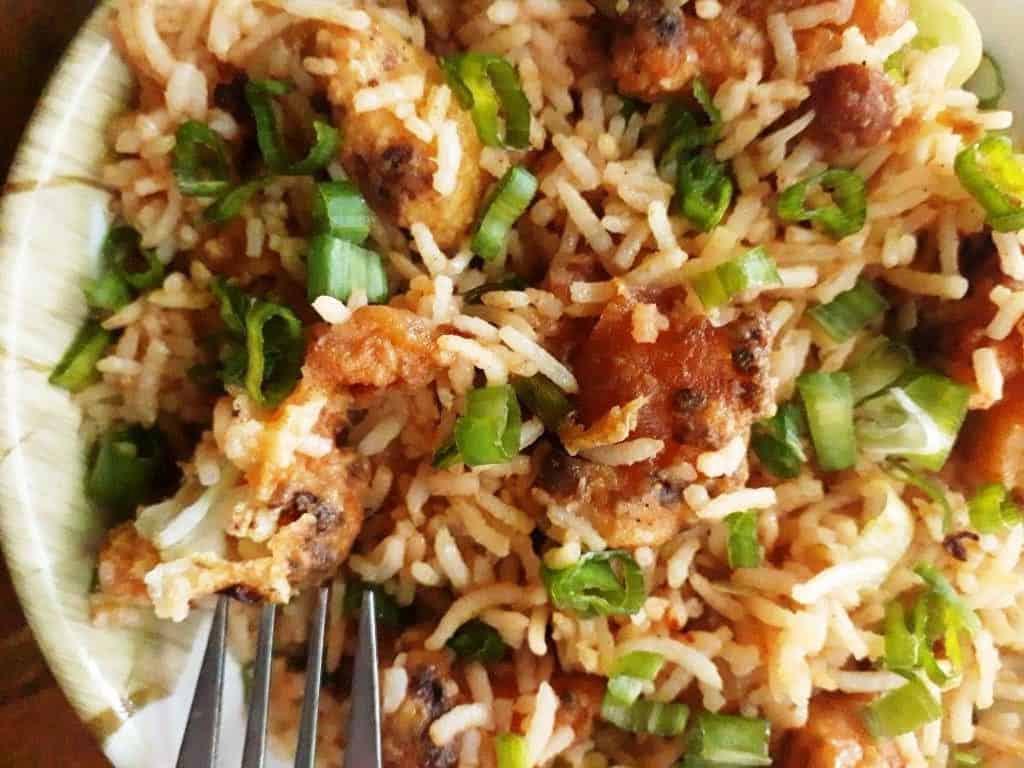 schezwan cauliflower fried rice
