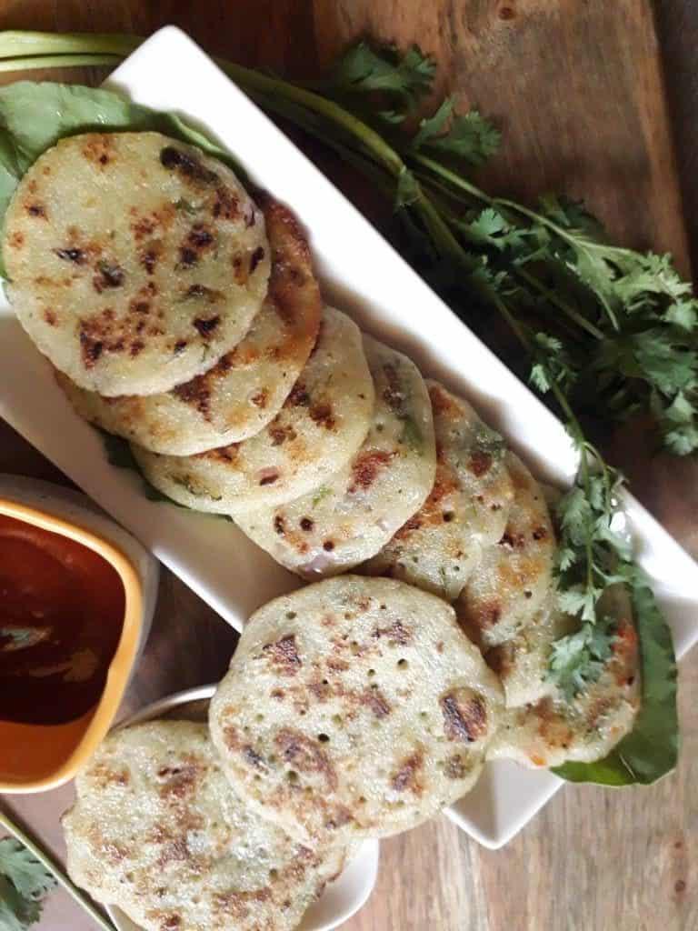 Mini Rava Dosa/ Semolina Pancakes for Kids Tiffin Box - My