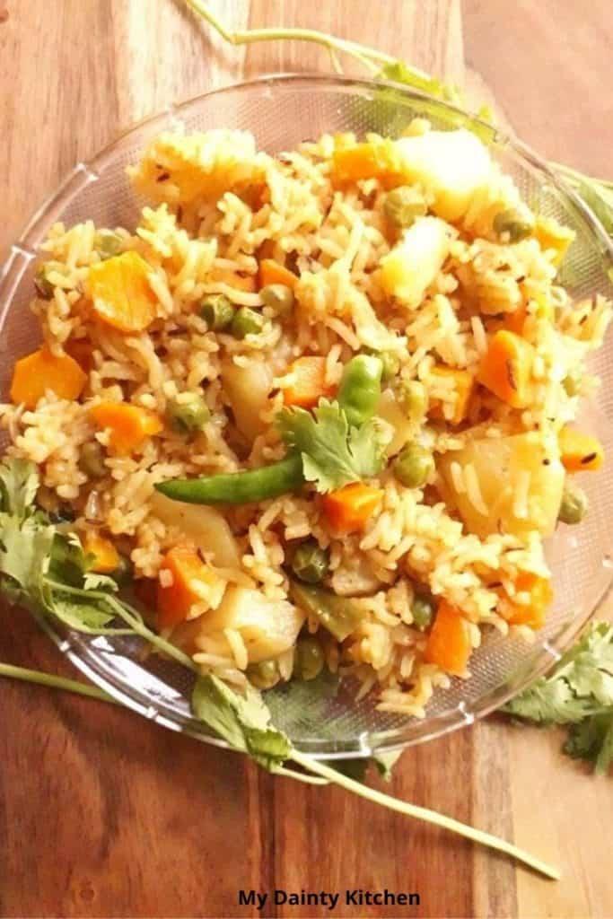 indian rice recipes veg tehri