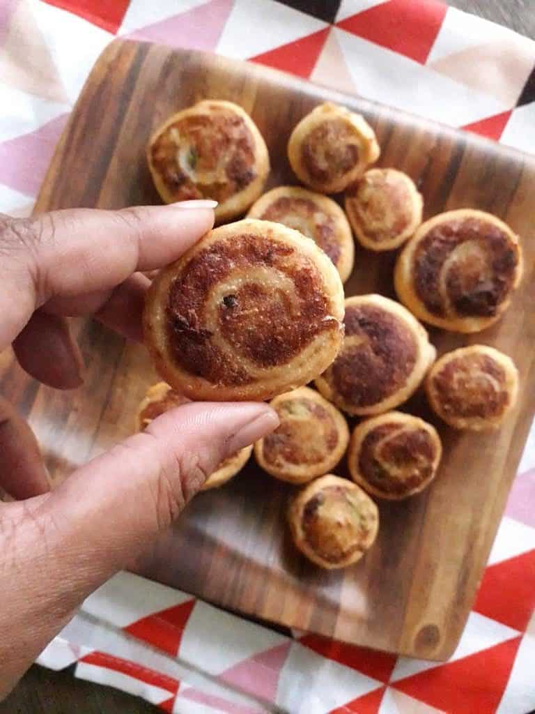 party appetizers - Puff pastry pinwheels