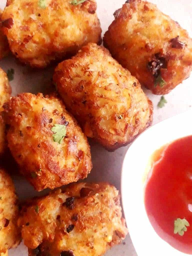 party appetizers - tater tots