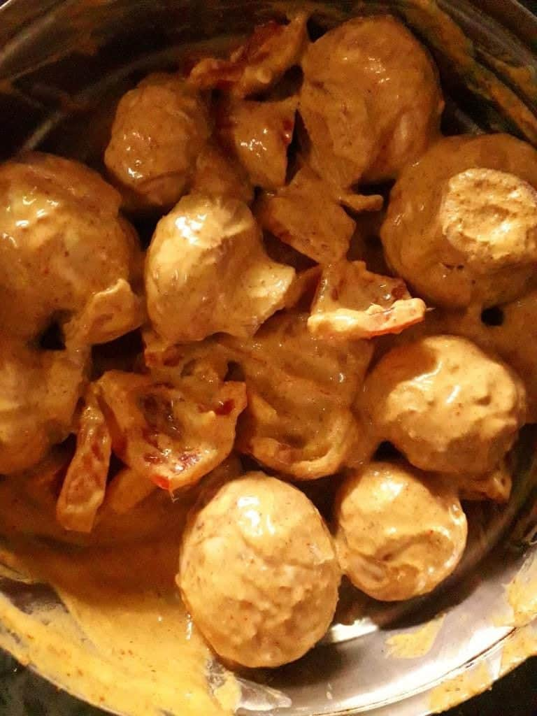 mushroom tikka masala marination