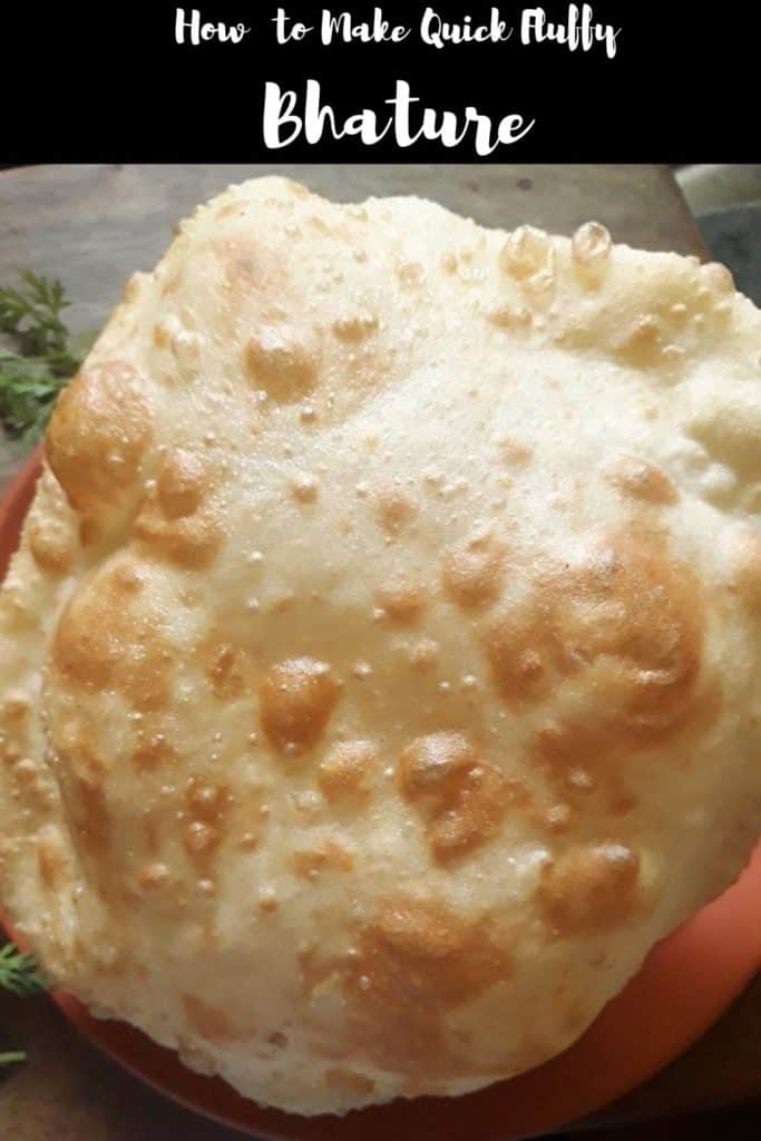how to make fluffy bhature