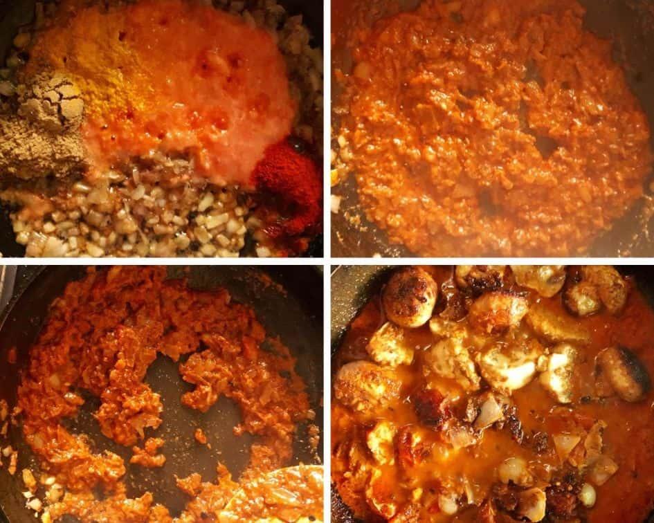 mushroom tikka masala gravy
