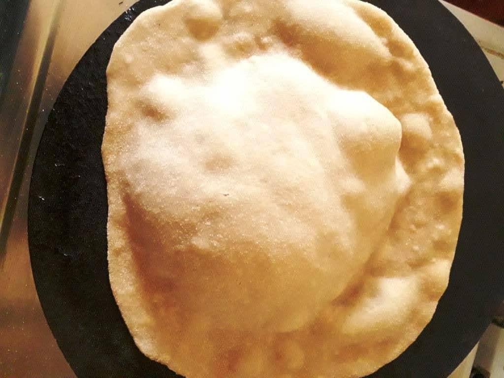homemade tandoori roti