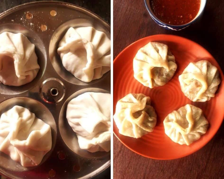 popular street food of delhi veg momos