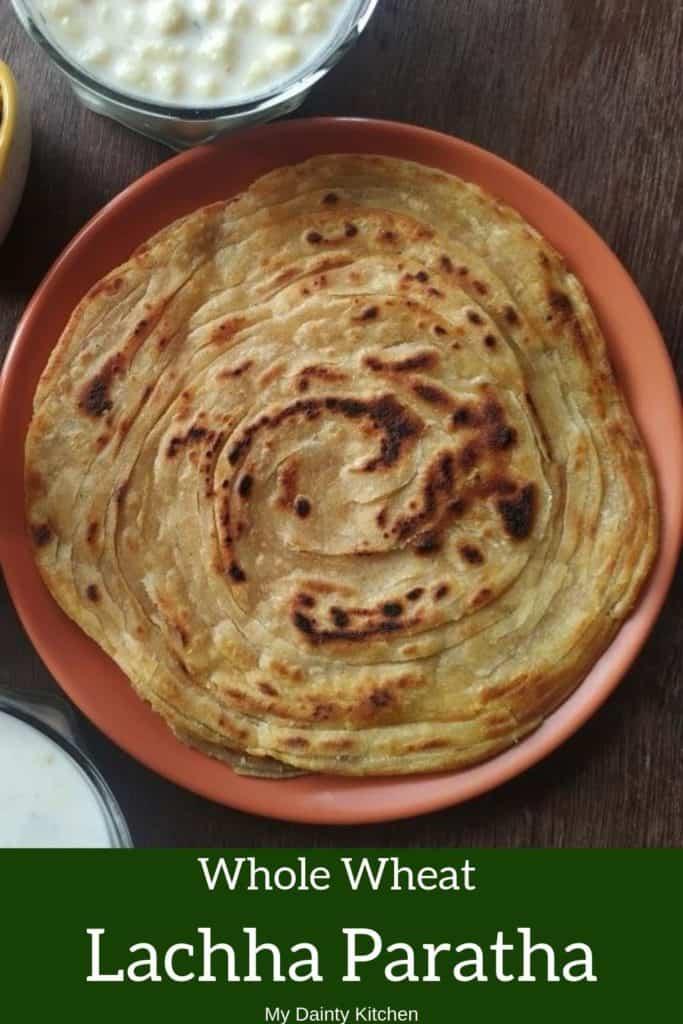 whole wheat lachha paratha
