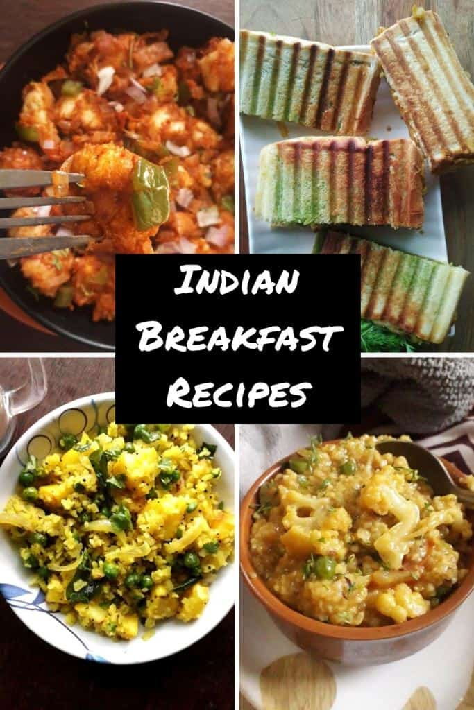 Indian breakfast recipes collection