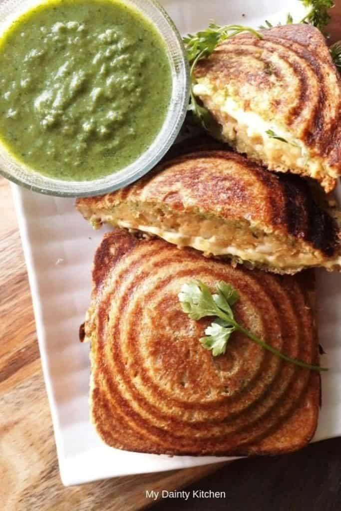 potato cheese sandwich for breakfast