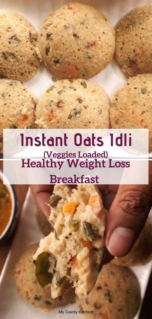 oats idli for weight loss diet