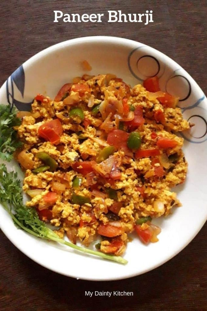 high protein breakfast recipes paneer bhurji