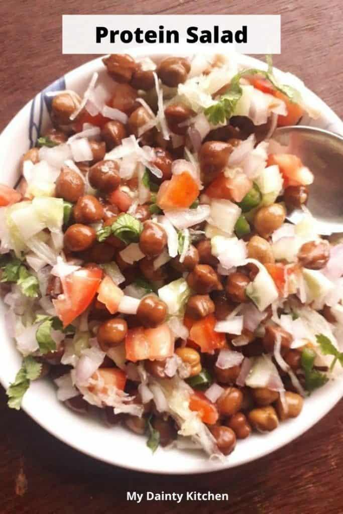 kala chana salad for weight loss
