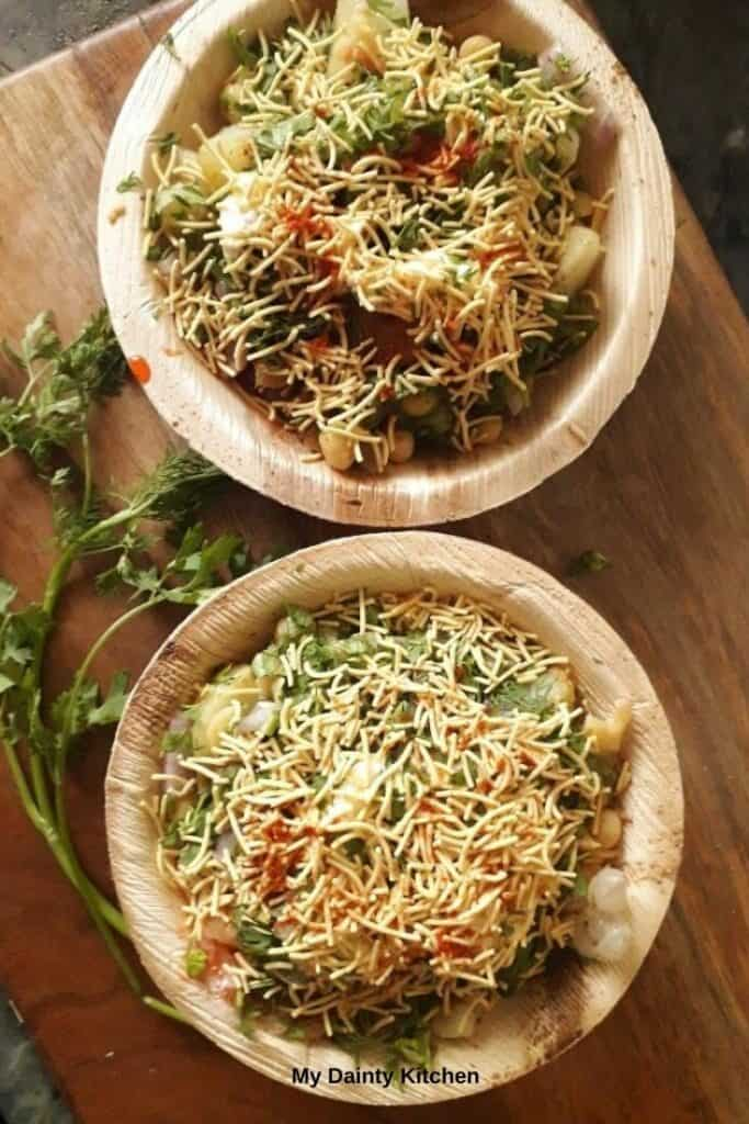 Indian street food aloo chaat of delhi