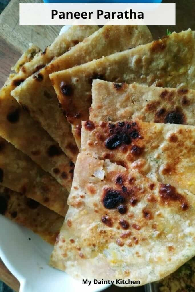 paneer paratha for kids tiffin box