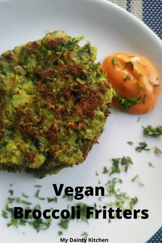 vegan broccoli fritters