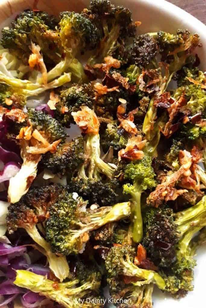 vegan broccoli garlic stir fry
