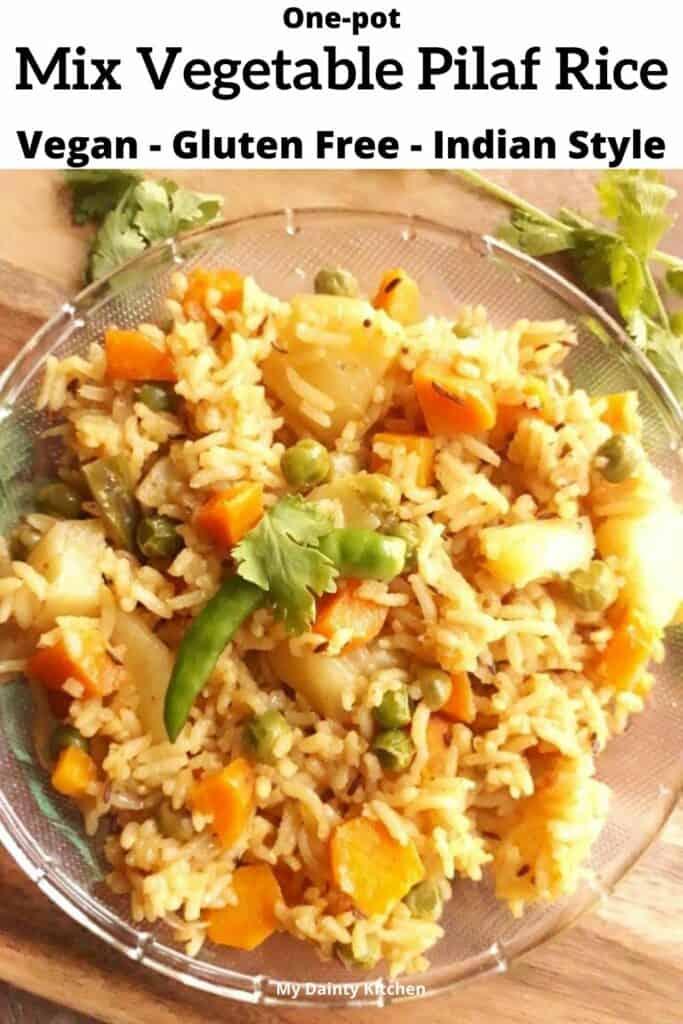 mix vegetable pilaf