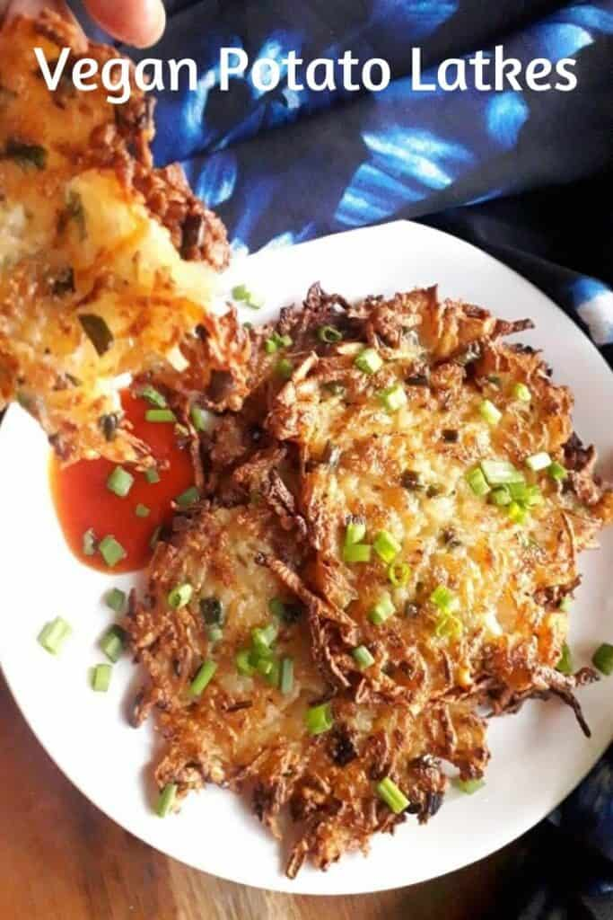 vegan potato latkes